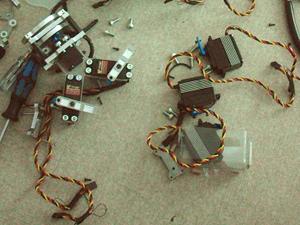 6脚ロボット 部品