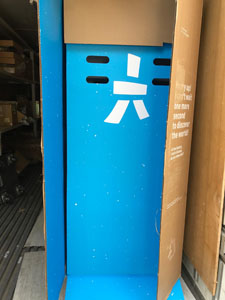 ペッパー専用の箱 無料 取り寄せ